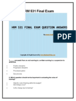HRM 531 Final Exam Latest UOP Course Assignments