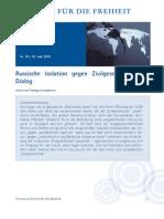 Russische Isolation gegen Zivilgesellschaft & Dialog