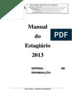 Manual Estagio 2013 - Sistema de Informação