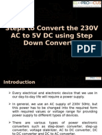 Steps to Convert the 230V AC to 5V DC using Step Down Converter