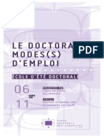 École d'été doctorale EED Unistra 2015 - Programme