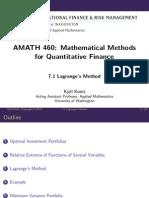 Mathematicalmethods Lecture Slides Week7 1 LagrangesMethod