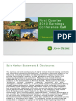 2010 First Quarter John Deere