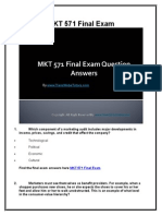 MKT 571 Final Exam Latest UOP Final Exam Questions With Answers