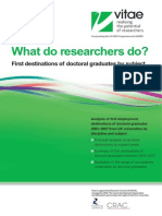 What Do Researchers Do WDRD by Subject Vitae Jun 2009