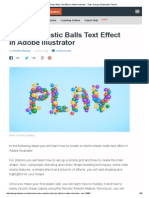 Create a Plastic Balls Text Effect in Adobe Illustrator - Tuts+ Design & Illustration Tutorial