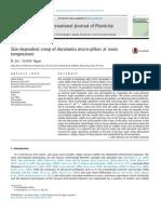 Size-Dependent Creep of Duralumin Micro-pillars at Room Temperature