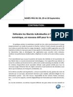 Défendre les libertés individuelles à l'heure du numérique (congrès PRG 2012)