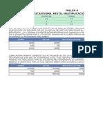 Taller 4 Excel