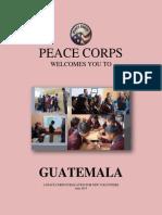 Peace Corps Guatemala Welcome Book 2015 June