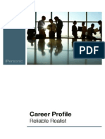 Career Profile Reliable Realist