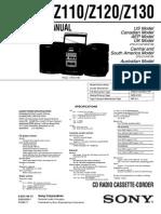 Sony CFD-Z110 Z120 Z130_Ver 1.1 2002.11 CD Radio Cassette Sm