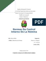 INFORME de NOMINA Normas de Control Interno