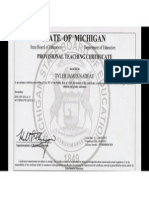 tyler nadeau teaching certificate