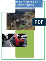 Consesiones Mineras en Areas Restringidas