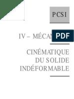 Cinématique Du Solide Indéformable