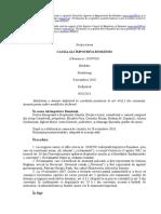 CASE of ALI v. ROMANIA Romanian Translation by the SCM Romania and IER