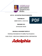 Detecting Understatement of Liability Fraud Symptoms - Adelphia Communication Corporation