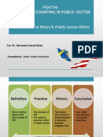Ethics and Public Sector Ethics