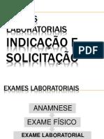 Exames Laboratoriais - Indicacao e Solicitacao Pb