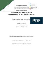 Informe Del Proyecto de Intervención Socioeducativa