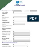 ITC Application Form