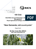 'New demands; old countryside.' 2011 Exc Summary and interviews