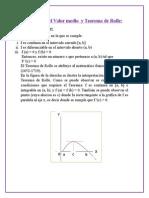 Teorema Del Valor Medio y Teorema de Rolle