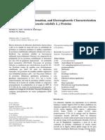 Solubilización, Fraccionamiento y Electroforesis de Proteina de Sacha Inchi