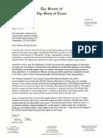 Rodney Ellis Letter to DOJ