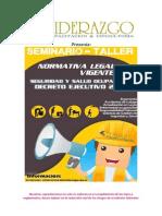 Seminario Normativa Legal Vigente SST Decreto 2393
