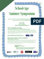 school-age summer symposium