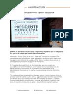 26-06-15 Asigna Maloro Acosta actividades y plazos a Equipo de Transición