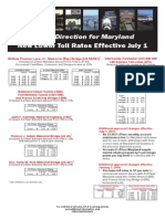 MD Toll Rates Effective July 1