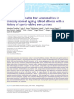 Diffuse White Matter Tract Abnormalities in Clinically Normal Ageing Retired Athletes With a History of Sports-related Concussions