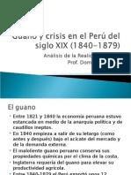 Guano y Crisis en El Perú