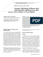 McKee - Customized Dynamic Splinting Orthoses for Radial Nerve Injury Case Report