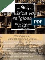 TREBALL musica vocal religiosa