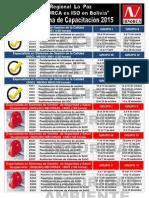 Cronograma 2015 La Paz