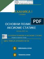 0210 - Основни појмови и аксиоме статике - Предмет и задатак статике