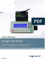 Xlogic Text Panel(Elc-md204) User Manual