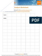 Decision Matrix Analysis Worksheet