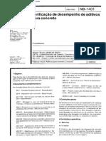 NB 1401 - Verificacao De Desempenho De Aditivos Para Concreto.pdf