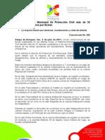 02-07-2011 Atendió Sistema Municipal de Protección Civil más de 30 reportes ciudadanos por lluvias. C362