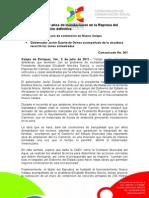 """02-07-2011 La alcaldesa Elízabeth Morales recorrió las zonas afectadas por la tormenta tropical """"Arlene"""". C361"""