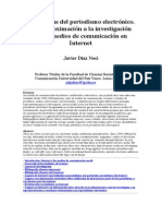 Tendencias Del Periodismo Electrónico. Una Aproximación a La Investigación Sobre Medios de Comunicación en Internet