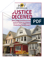 6 9 15 Foreclosure Prevention Project Mfy White Paper Justice Deceived