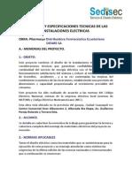 Memoria Tecnica Planillaje Planos Pharmacys Alborada Sedisec