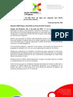 04-07-2011 Atiende CMAS fuga por derrumbe  en la línea del Alto Pixquiac.  C364
