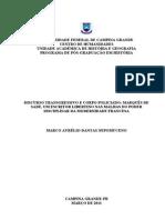 Discurso Transgressivo e Corpo Policiado; - Marcos Aurélio Dantas Nepomuceno (Mestrado)